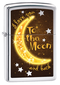 Zippo 29059 Golden Moon, High Polished Chrome