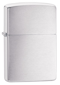 Zippo 200 Brush Chrome Lighter