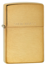 Zippo 204 Brush Brass Lighter
