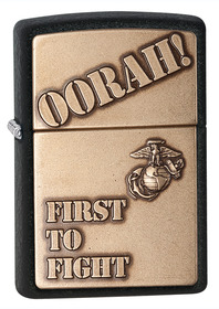 Zippo 28368 First To Fight, Black Crackle