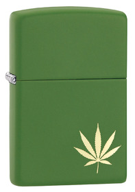 Zippo 29588 Leaf On The Side, Moss Green