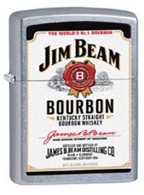 Zippo 28419 Jim Beam White Label, Street Chrome