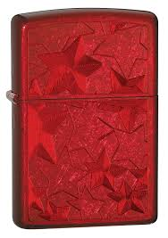 Zippo 28339 Iced - Stars, Candy Apple Red