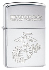 Zippo 28478 U.S. Marine High Polished Chrome