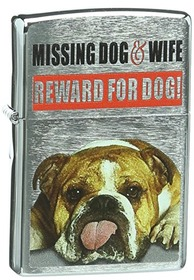 Zippo 2003.642 Missing Dog & Wife. Be Chrome