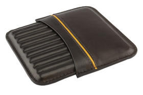 Cigarillo Case Leather for 10 Cigarillos Brown