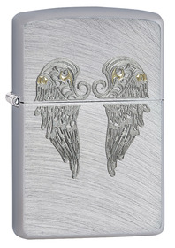 Zippo 29069 Angel Wings, Chrome Arch