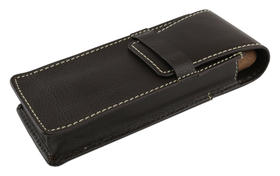 Cigar Case Leather for 2 Large Cigars.Fold over in Brown
