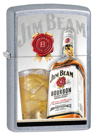 Zippo 29124 Jim Beam, Glass & Bottle, Street Chrome