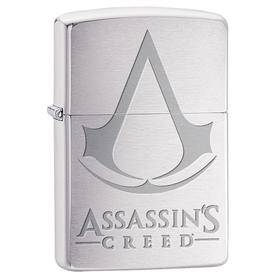 Zippo 29494 Assassin's Creed, Crest & Name, Brushed Chrome