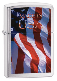 Zippo 24797 Made In USA, Brushed Chrome