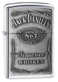 Zippo 250JD427 Jack Daniel's Label Polished Chrome Emblem