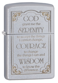 Zippo 28458 Serenity Prayer Satin Chrome