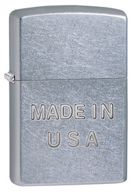 Zippo 28491 Made In U.S.A. Street Chrome