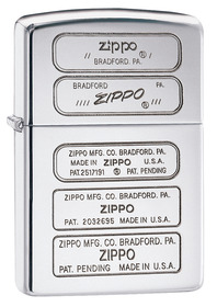 Zippo 28381 Zippo Bottom Stamps, High Polished Chome