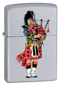 Zippo 60000289 Scottish Bagpiper, Brushed Chrome