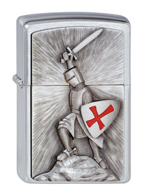 Zippo 1300103 Brushed Chrome, Crusade Victory