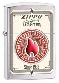 Zippo 28831  Zippo Trading Cards, Brushed Chrome