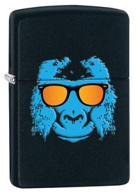 Zippo 28861 Ape with Shades, Black Matte