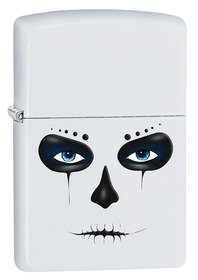 Zippo 28828 Day of the Dead, White Matte