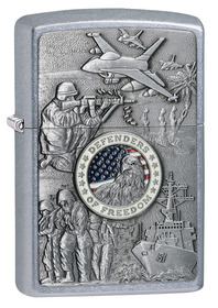 Zippo 24457 Joined Forces Emblem Street Chrome