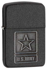 Zippo 28583 1941, US Army, Pewter Emblem, Black Crackle