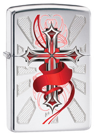 Zippo 28526 Cross With Wings, HP Chrome