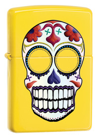 Zippo 24894 Day of The Dead Skull, Lemon
