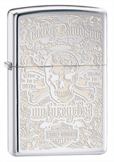 Zippo 28229 High Polished Chrome Harley Davidson Skull