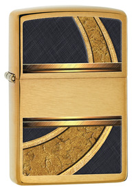 Zippo 28673 Gold & Black, Brushed Brass
