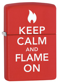 Zippo 28671 Keep Calm & Flame On, Red Matte