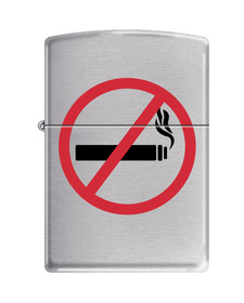 Zippo 200NSM2 No Smoking Symbol, Brushed Chrome